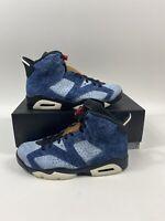 Men Air Jordan Retro 6 Washed Denim Blue Mens Size 8 Mens CT5350-401 New