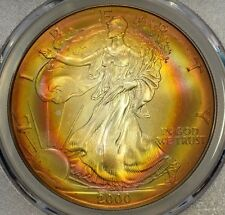 2000 ASE PCGS MS 68 Rainbow Tone Colors - Two Sides - Colorful Toning~Gem