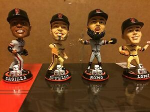 SF Giants CORE FOUR Mini Bobblehead set (Santiago Casilla, Affeldt, Lopez, Romo)