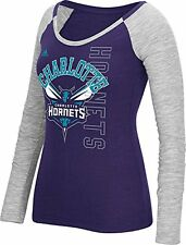 NBA Charlotte Hornets Women's Team Liquid Dots Long Sleeve Slub T-Shirt, Medium