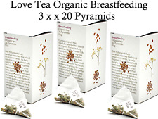3 x 20 bags Love Tea Organic Breastfeeding Tea ( Total 60 pyramids ) nursing