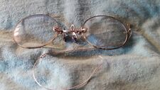 Vintage Eyeglasses Spectacles Gold Filled Early 1900's Tortoise Shell Rims