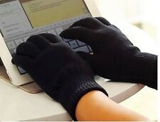 TOUCH SCREEN WINTER KNITTED GLOVES WOMEN MENS KIDS FOR SMART PHONE TABLET MAGIC