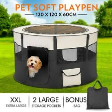 XXL Portable Soft Pet Playpen Dog Cat Puppy Play Round Crate Cage Tent Travel