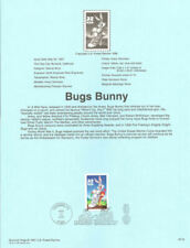 BUGS BUNNY LEANING ON MAILBOX WARNER BROTHERS 1997 #3137A  USPS FD Souvenir Page