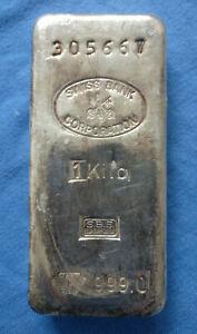 Swiss Bank 1kg Silberbarren, S.B.S./Schweizerischer Bankverein, Metalor, Rarität