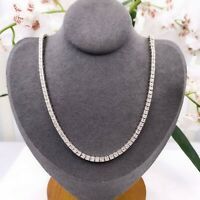 Round Diamond Box Link Necklace 3.00 tcw in 18kt White Gold