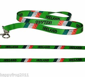 Satin IRELAND FLAG LANYARD Neck Strap for Mobile Ipod ID Conference Pass Badge