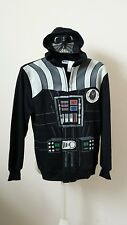 New Star Wars Darth Vader Hoodie Full Face Zip Mask Costume Youth XL 18 Adult