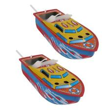 2x Retro Steam Boat Pop Candles Powered Put Ship Collectable Classic Tin Toy