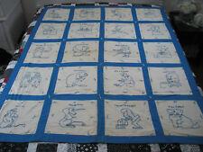 Htf Antique !930s Hand Embroidered Quilt~Ruby Short McKim~Alice In Wonderland