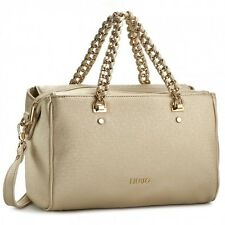 BORSA LIU JO ANNA BAULETTO BAG CHAIN A17003 ORO LIGHT GOLD O BLU NUVOLA SALDI