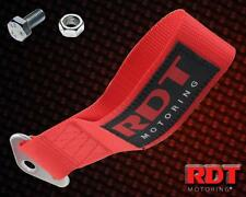Performance Racing Tow Hook Strap Rear / Front Track Extra Strength Red