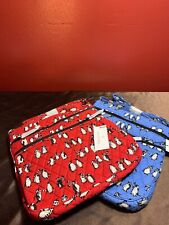 New Womens Vera Triple Zip Hipster Crossbody in Playful Penguin Blue or Red