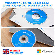 Microsoft Windows 10 Home 64-Bit License with DVD  | SEALED PACK
