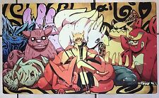 USA Seller Custom Yugioh Playmat Mat Mouse Pad Naruto Cute Tailed Beasts #410