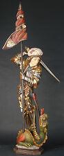 Antiker St. George, Ritter, Drachentöter Skulptur wood Holzschnitzerei