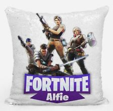 Fortnite pillow Magic Reveal Sequin Cushion Cover Personalised Christmas Gift
