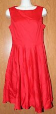 Womens Red Grace Karin Sleeveless Dress Size Small excellent