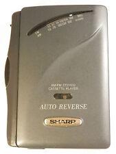 Retro SHARP JC-545 (GY) personale lettore di cassette con radio FM/AM