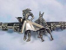 Men's Sterling Silver Matador Bull Fighter Tie Clip Vintage Estate Jewelry