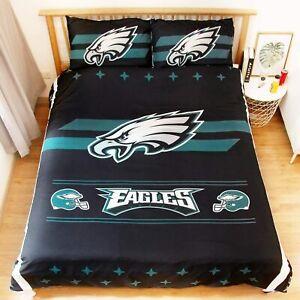 Philadelphia Eagles 3PCS Bedding Set Duvet Cover Pillowcases Comforter Cover Set