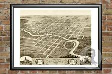 Old Map of Pontiac, IL from 1869 - Vintage Illinois Art, Historic Decor