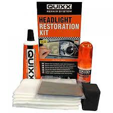 QUIXX Headlight Headlamp Cleaning Restoration Plastic Polish Restorer Kit. BNIB