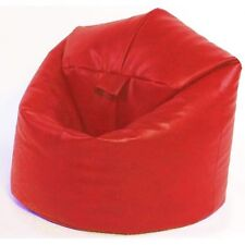 RED XL FILLED FAUX LEATHER BEANBAG BEAN BAG BEANBAGS