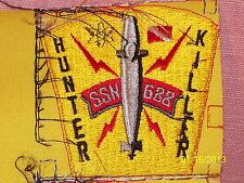 USS Los Angeles Embroidered Patch Hunter Killer Submarine SSN-688 Yellow & Red