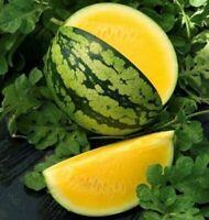 Seeds Watermelon Janusik Yellow Vegatable Fruit Rare NON-GMO Organic Heirloom