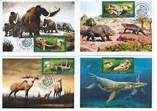 maxi card  Prehistoric Fauna Dinosaurs Mammoths Paleontological Heritage of Ru 3