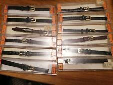8mm Ends Ex Stock black & brown job lot of 12 vintage Leather Watch Straps
