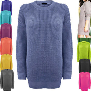 Jumpers for Women Chunky Ladies Knitted Jumper Dress Long Sleeves Sweater S17