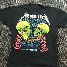Metallica Live In Concert 1992 Pushead Black T Shirt Heavy Metal Reprint Skulls
