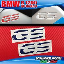 Coppia Adesivi Resinati 3D BMW GS Serbatoio R 1200 LC Blu