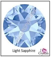 LIGHT SAPPHIRE 5mm 20ss 12 pieces Swarovski Crystal Flatback Rhinestones 2088