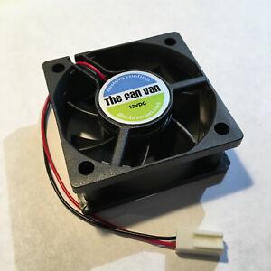 TIVO Roamio PRO Quiet Fan TFV502012 50mm x 20mm 2 wire Fan + Rubber Mounts