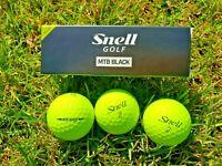 Golf Ball Sleeves Vice Pro + Snell MTB-X Black Yellow Penta TP black red q star