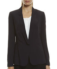 SPORTSCRAFT Black 'TERESE' Fully Lined Single Lapel Work Career Blazer Jacket 8