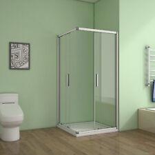 ESG Echtglas Duschkabine Schiebetür Eckeinstieg Glas Duschabtrennung&Duschtasse