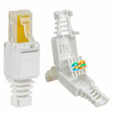 No Crimp Connectors CCTV Ethernet Cable Tool-less Crystal Head Plug CAT6  RJ45