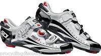 NEW SIDI Ergo 3 Carbon Vernice Road Cycling Shoes White/Black: Euro 45 US 10.5