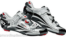 NEW SIDI Ergo 3 Carbon Vernice Road Cycling Shoes White/Black: Euro 44, US 10.0