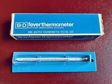 Vtg B-D Fever Thermometer Asepto Rectal #TA 203 ~ Becton Dickinson & Co. in Box