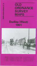 OLD ORDNANCE SURVEY MAP DUDLEY WEST 1901