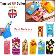 New silicone Kid Children 3D Disney Cartoon Case Cover For iPhone 4 4s 5 5s 6 6s