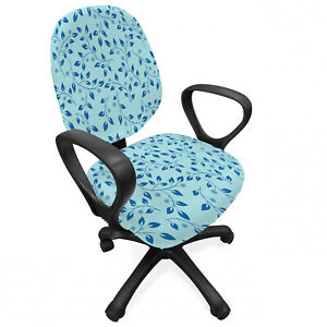 Ambesonne Leaves Forest Office Chair Slipcover Protective Stretch Cover
