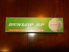 BOITE DE 4 BALLES de TENNIS DUNLOP SP JAUNE Officielle FFT VINTAGE 80' s BOITE C