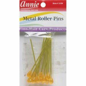 """Annie Metal Roller Pins - 12-Pack - 3"""" Long - #3197 - Secure Rollers & Curlers"""